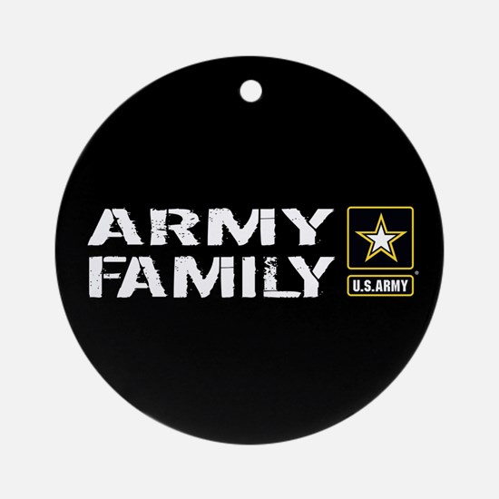 U.S. Army: Family (Black) Round Ornament