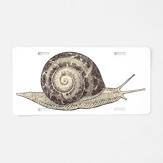Cute Snail Aluminum License Plate