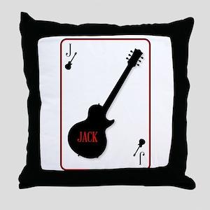 Black Solid Guitar Joker Throw Pillow