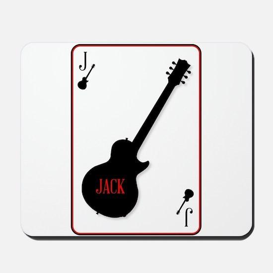 Black Solid Guitar Joker Mousepad