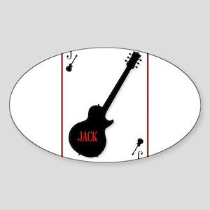 Black Solid Guitar Joker Sticker