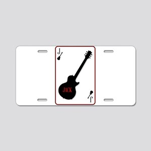 Black Solid Guitar Joker Aluminum License Plate