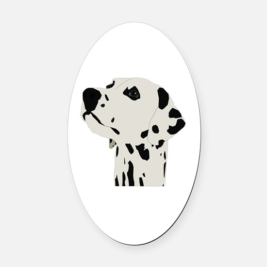 Cute Dalmatian Oval Car Magnet