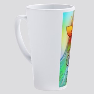 Pastel Computer Graphics Flower 17 oz Latte Mug
