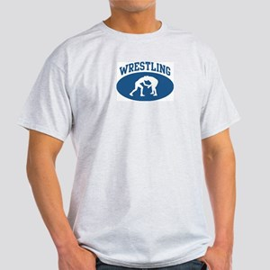 Wrestling (blue circle) Light T-Shirt