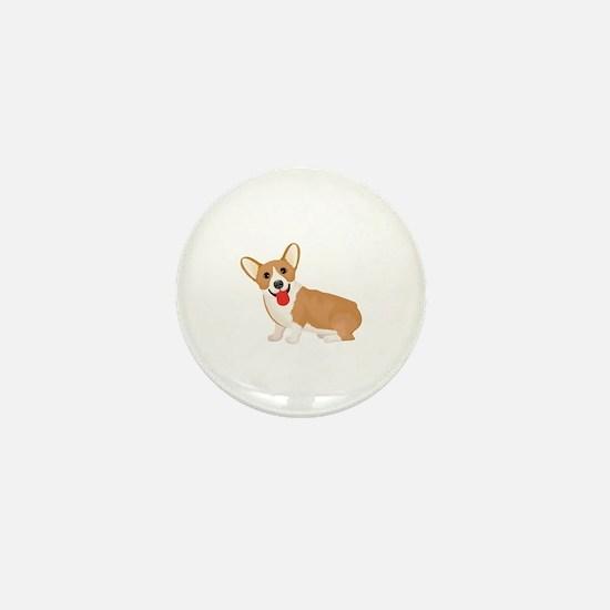 Cute Welsh corgi Mini Button