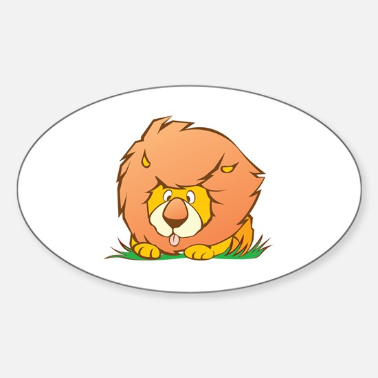 Cute Lion pictures Sticker (Oval)