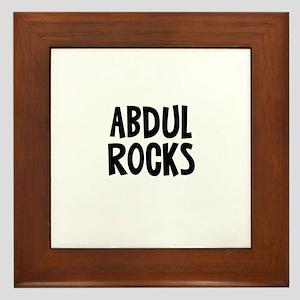 Abdul Rocks Framed Tile