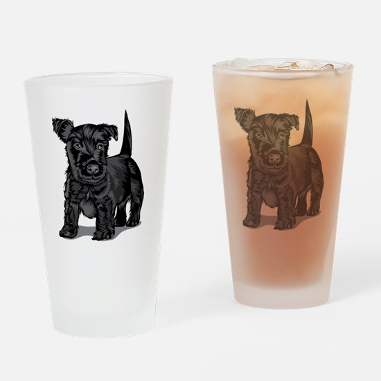 Cute Schnoodle Drinking Glass