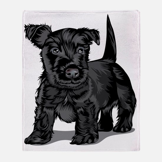Cute Schnoodle Throw Blanket