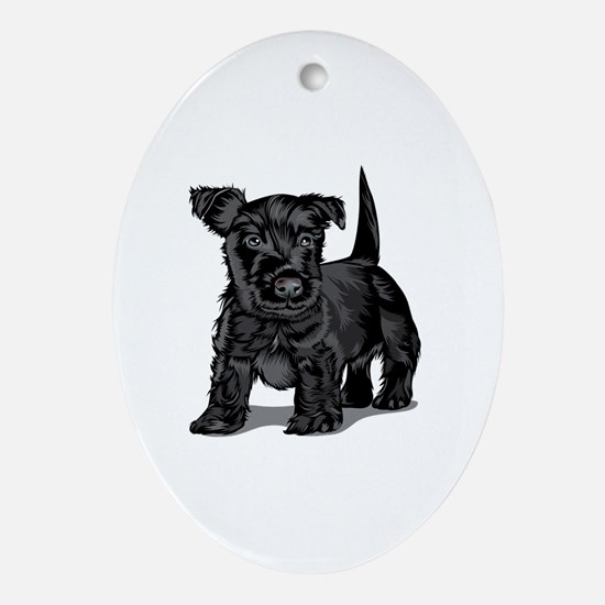 Cute Schnoodle Oval Ornament