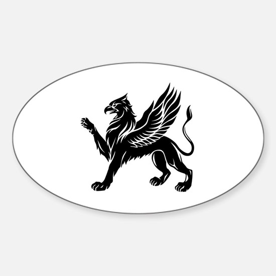 Cute Birds silhouette Sticker (Oval)