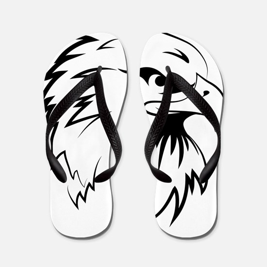 Cute Eagle tattoo Flip Flops