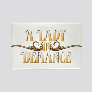 A Lady in Defiance Magnets