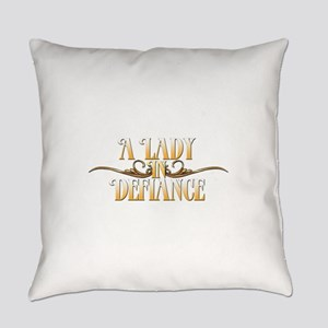 A Lady in Defiance Everyday Pillow