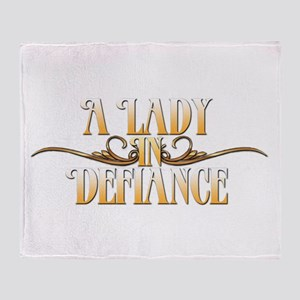 A Lady in Defiance Throw Blanket
