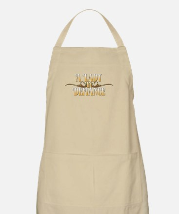 A Lady in Defiance Apron