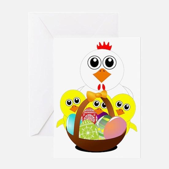 Cute Media basket Greeting Card