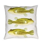 Nile Puffer fish Everyday Pillow
