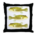 Nile Puffer fish Throw Pillow