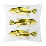 Nile Puffer fish Woven Throw Pillow