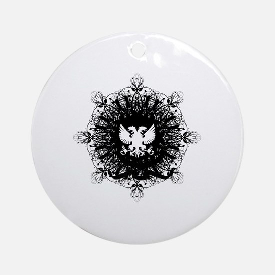 Cute Lacey Round Ornament