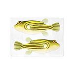 Nile Puffer fish 5'x7'Area Rug