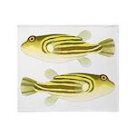 Nile Puffer fish Throw Blanket