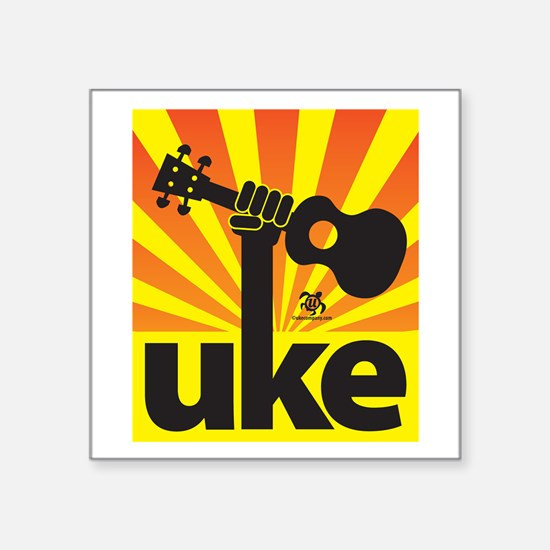 Uke Fist Power Sticker