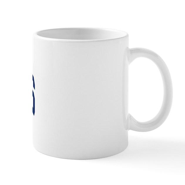 Meyers design blue mug by surnamealot for Blue mug designs