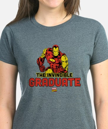 Iron Man The Invincible Gradu Women's Dark T-Shirt