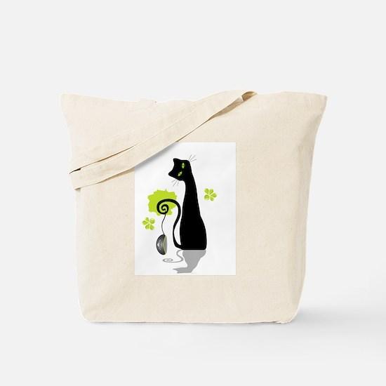Unique Black cat design Tote Bag