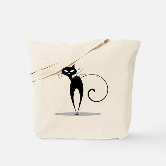 Black cat design Tote Bag
