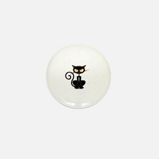 Cute Cat silhouette Mini Button