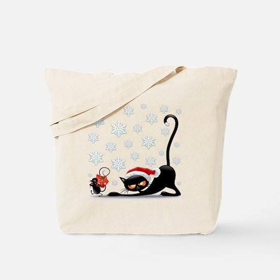 Funny Cat face Tote Bag