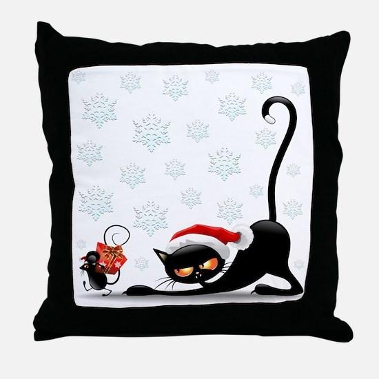 Cute Cat face Throw Pillow