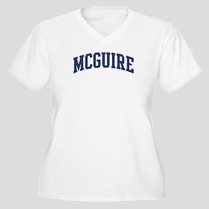 MCGUIRE design (blue) Women's Plus Size V-Neck T-S