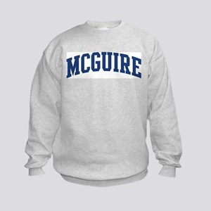 MCGUIRE design (blue) Kids Sweatshirt