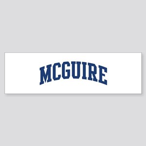 MCGUIRE design (blue) Bumper Sticker