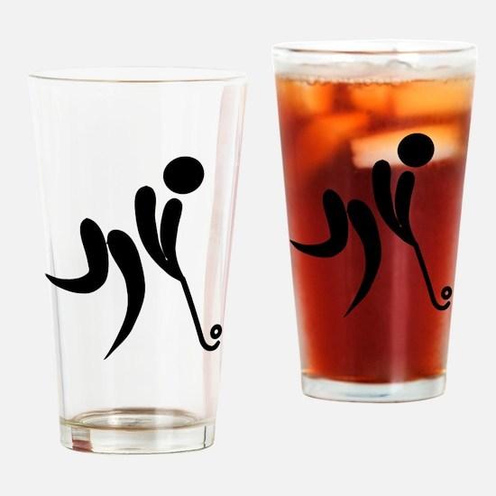 Unique Field hockey Drinking Glass