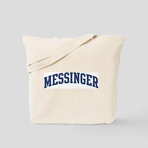 MESSINGER design (blue) Tote Bag