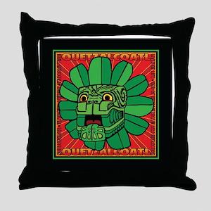 Aztec God QUETZALCOATLI Throw Pillow