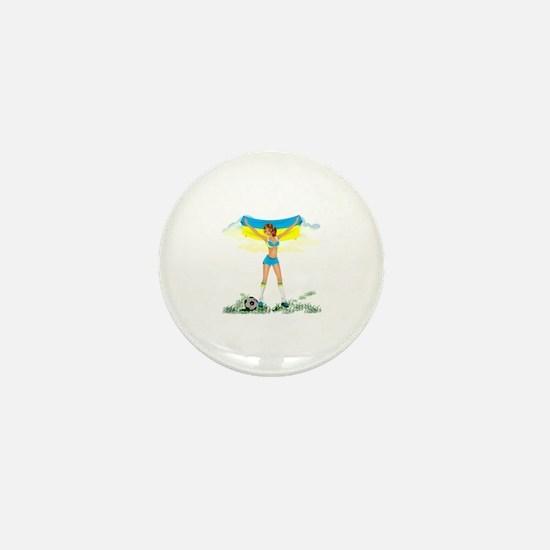 Unique Ukraine girl Mini Button