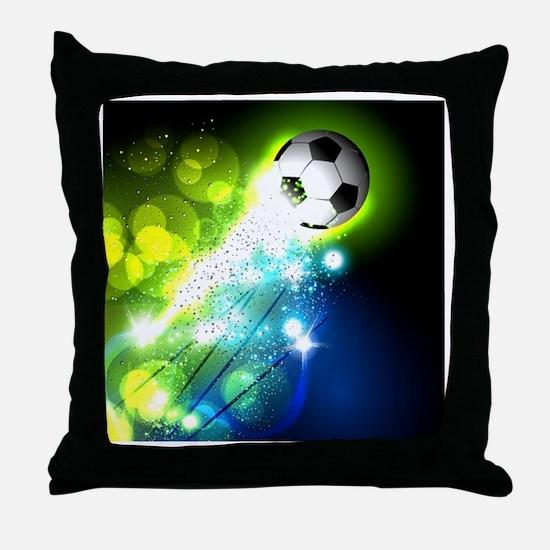 Cute Soccer ball Throw Pillow