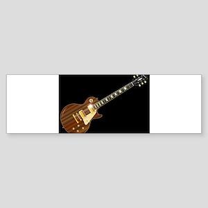 Solid Blues Guitar Bumper Sticker