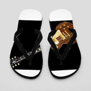 Solid Blues Guitar Flip Flops