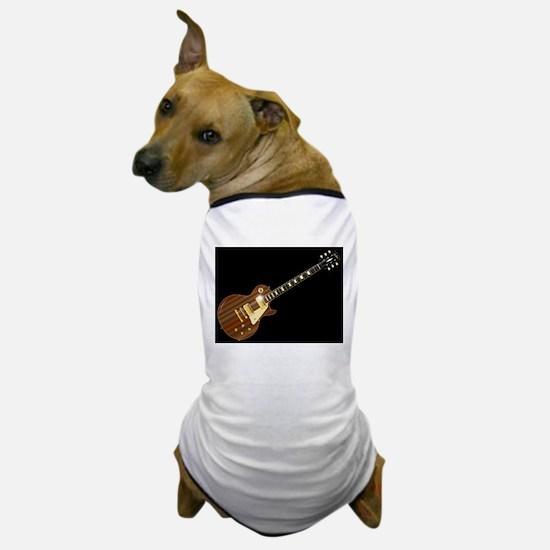 Solid Blues Guitar Dog T-Shirt