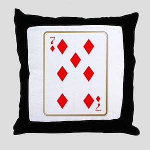 Seven Diamonds Throw Pillow