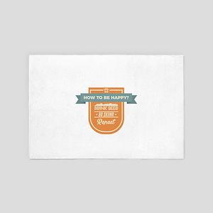 Be Happy Drink Beer Go Skiing Design 4' x 6' Rug