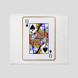 Queen Spades Throw Blanket